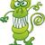 furcsa · szörny · vigyorog · pózol · zöld · három - stock fotó © zooco
