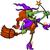desenho · animado · bruxa · cabo · de · vassoura · ilustração · halloween - foto stock © zooco