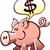 cartoon · varken · tekstballon · retro · tekening · cute - stockfoto © zooco