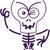 непослушный · Хэллоуин · череп · белый · черный - Сток-фото © zooco