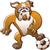 бульдог · Cartoon · жестокий · собака · красный · власти - Сток-фото © zooco