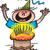 vektor · nagy · születésnapi · torta · égő · gyertyák · étel - stock fotó © zooco