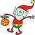 緑 · エルフ · クリスマス · 現在 · かわいい · 笑みを浮かべて - ストックフォト © zooco