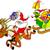 karácsony · mikulás · lovaglás · szánkó · égbolt · férfi - stock fotó © zooco