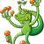 decorativo · isolado · desenho · animado · lagarto · branco · arte - foto stock © zooco