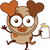 коричневая · собака · Cartoon · иллюстрация · вектора - Сток-фото © zooco