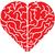 red cartoon heart shaped brain stock photo © zooco