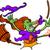 desenho · animado · bruxa · equitação · cabo · de · vassoura · projeto · arte - foto stock © zooco