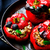 the sweet pepper stuffed with lamb and pearl barley stock photo © zoryanchik