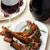 cordeiro · férias · tabela · foco · comida · jantar - foto stock © zoryanchik