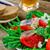 herring green beans and tomatoes summer salad stock photo © zoryanchik