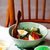 salade · groene · bonen · olijven · ei · stijl · vintage - stockfoto © zoryanchik