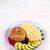 steak with bulgur and vegetables stockfoto © zoryanchik