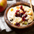 overnight oats with apples cranberrie and cinnamon stock photo © zoryanchik