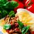 pollo · fondo · placa · carne · color - foto stock © zoryanchik