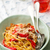 spaghetti with ground meat and pepper stock photo © zoryanchik
