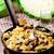 lahana · gıda · tablo · plaka · et · beyaz - stok fotoğraf © zoryanchik