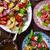 aardappel · warm · salade · stijl · rustiek · selectieve · aandacht - stockfoto © zoryanchik