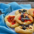 mini · tabela · caseiro · pizza · ovo · frito · páscoa - foto stock © zoryanchik