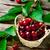 ripe cherries in a basket stock photo © zoryanchik
