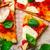 pizza margherita top view selective focus stock photo © zoryanchik