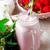 新鮮な · イチゴ · 写真 · 緑 · わら · ガラス - ストックフォト © zoryanchik