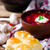 orosz · piros · étel · kenyér · vacsora · hús - stock fotó © zoryanchik