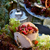 salad with marinated mushrooms cowberry and meat stock photo © zoryanchik