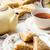банан · корицей · кремом · сыра · продовольствие · завтрак - Сток-фото © zoryanchik