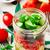 greek salad in mason jar style rustic stock photo © zoryanchik