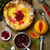 dutch baby with cranberry orange compote stock photo © zoryanchik