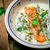 salmon with sauce from a sorrel stock photo © zoryanchik