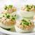 delicious stuffed eggs on white plate stock photo © zoryanchik