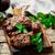 cordeiro · cogumelos · madeira · almoço · batata · pormenor - foto stock © zoryanchik
