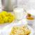 summer rural breakfast pancakes with honey and milk stock photo © zoryanchik