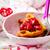 ontbijt · vruchten · aardbeien · bosbessen · boter · geïsoleerd - stockfoto © zoryanchik