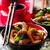 wok · keverés · szelektív · fókusz · zöld · vacsora · hús - stock fotó © zoryanchik