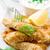 fish fingers and sweet potato oven fries stock photo © zoryanchik