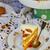 requeijão · torta · passas · de · uva · prato · comida · fruto - foto stock © zoryanchik