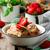 клубника · темный · шоколад · пшеницы · стиль · фон · десерта - Сток-фото © zoryanchik