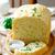 白パン · サワークリーム · 赤 · 唐辛子 · 木製 · プレート - ストックフォト © zoryanchik