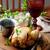 pörkölt · tyúk · mikró · étel · vacsora · szakács - stock fotó © zoryanchik