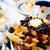 ワッフル · ブルーベリー · プレート · 表 · フルーツ · ミルク - ストックフォト © zoryanchik