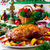 christmas · gebakken · gans · appels · vintage · stijl - stockfoto © zoryanchik