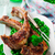 lamb chops marinated with mint and green pea stock photo © zoryanchik