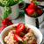 клубника · Cookies · пластина · продовольствие · фон - Сток-фото © zoryanchik