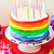 rainbow cake for with candles stock photo © zoryanchik