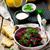 salade · voedsel · natuur · achtergrond · tabel · ontbijt - stockfoto © zoryanchik