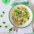pasta with green peas and creamy sauce stock photo © zoryanchik
