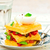 polenta with vegetables and poshed egg stock photo © zoryanchik